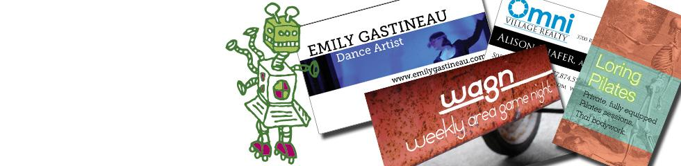 Business cards designed by Tara King